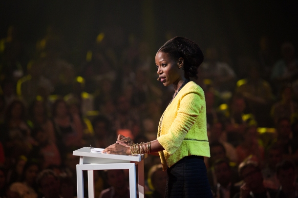 Taiye Selasi speaking at TEDGlobal 2014.